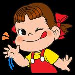 限定無料スタンプ::LINE ラッシュ × ペコちゃん