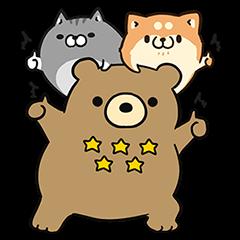 限定無料スタンプ::ボンレス犬・猫×エクスベア