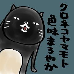 人気スタンプ特集::クロネコヤマモト 色味まろやか