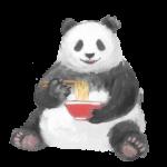 人気スタンプ特集::悪いこと言うパンダ