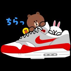 隠し無料スタンプ::NIKE☆BROWN&FRIENDS