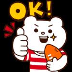 人気スタンプ特集::全力ラグビー☆ベタックマ