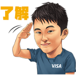 限定無料スタンプ::Team Visa アスリートスタンプ