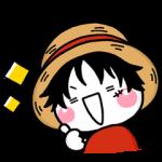 人気スタンプ特集::しろまるのONE PIECE コラボスタンプ♡限定