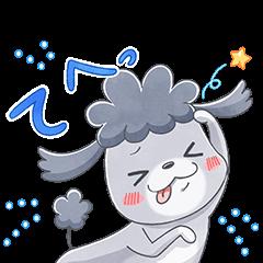 限定無料スタンプ::LINEモバイル ×「犬と猫」アニメ版