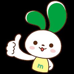 数量限定/隠し無料スタンプ::マイぴょん【マイネオ公式キャラクター】
