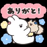 隠し無料スタンプ::口の悪いうさちゃん × キレイモ