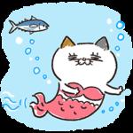 限定無料スタンプ::夏も元気に!タマ川ヨシ子(猫)第24弾