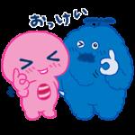 限定無料スタンプ::UQ × ピンクガチャ&ブルームク