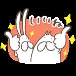 限定無料スタンプ::ねこ&うさぎタイツ × トーク占い